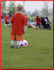 Ein kleiner Fußballstar