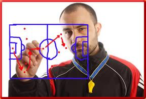 Taktiktraining im Fußball